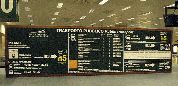 Malpensa Airport Transportation